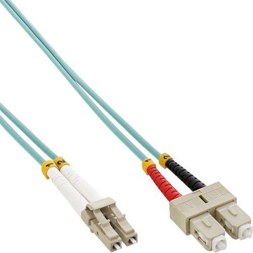 Cable Duplex fibra óptica OM3 50/125 micras. LC/SC. 15 metros.