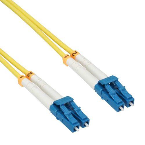 Cable Duplex fibra óptica OS2 9/125 micras. LC/LC. 15 metros.