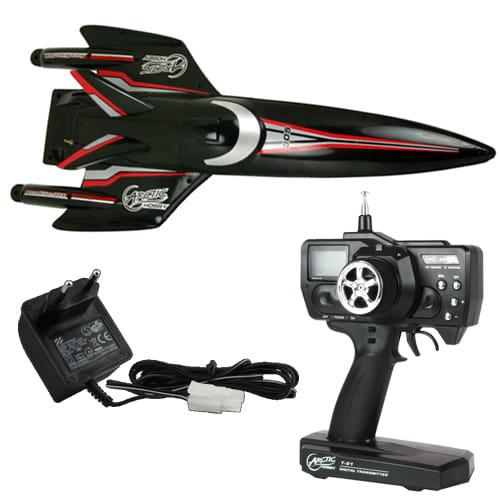 Arctic Aqua Rider 305 Negro 1:25 RC