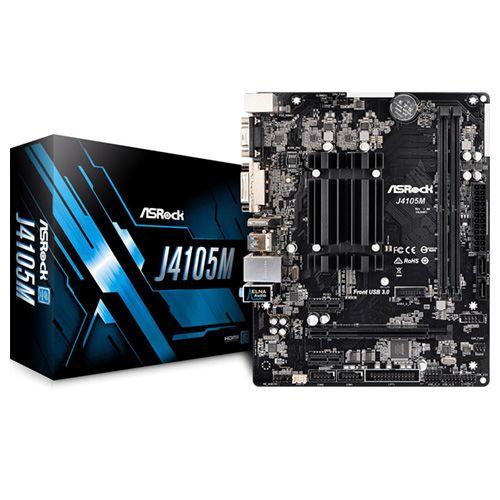 Asrock J4105M. Procesador Intel J4105. Micro-ATX.