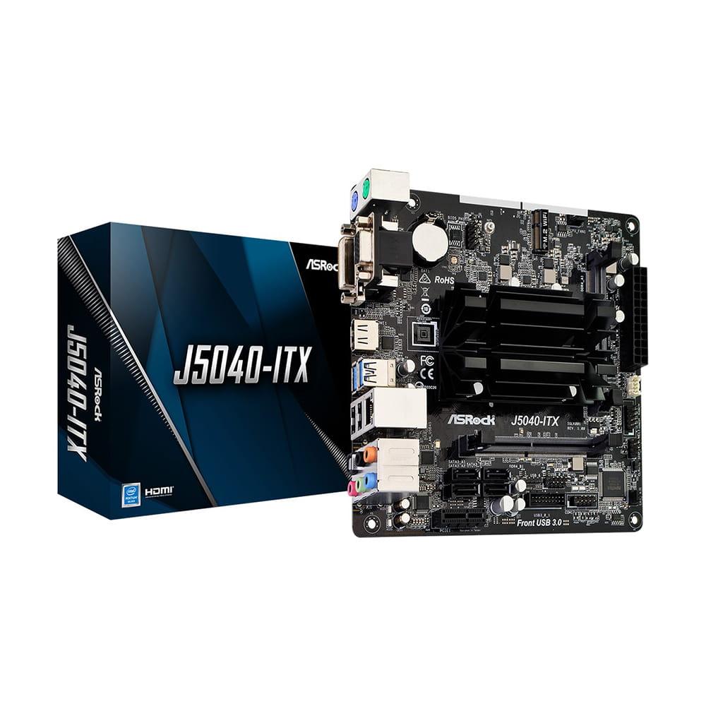 Asrock J5040-ITX. Intel J5040. Mini-ITX.