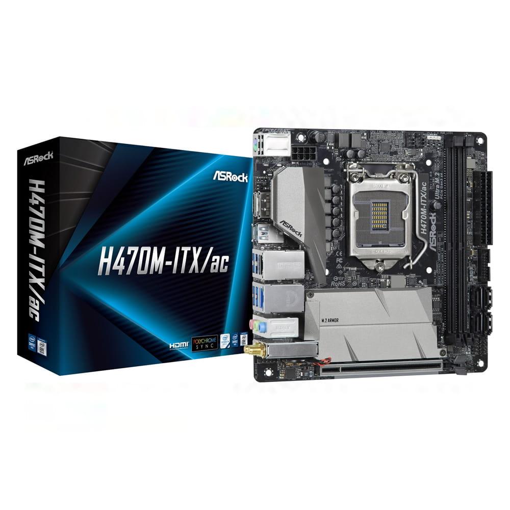 Asrock H470M-ITX/AC. Socket 1200. Mini-ITX.