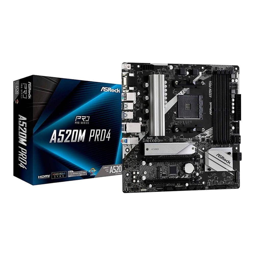 Asrock A520M Pro4. Socket AM4. Micro-ATX.