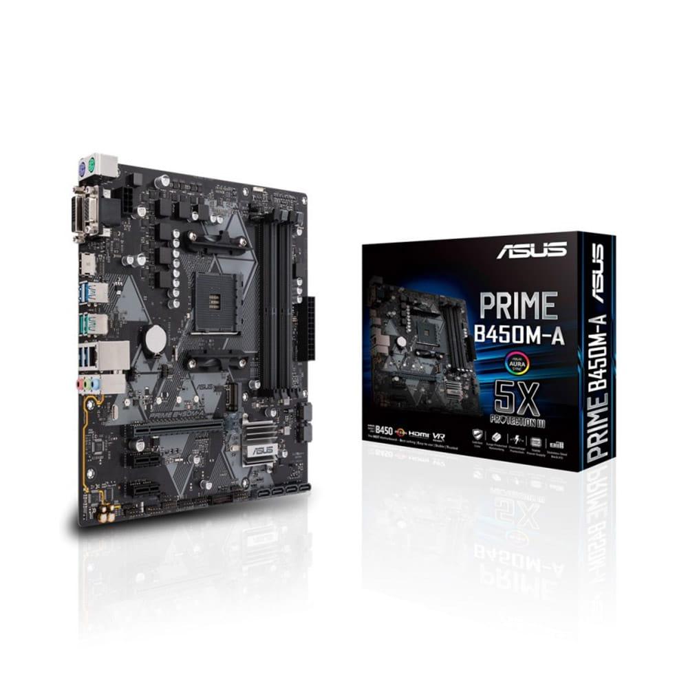 Asus Prime B450M-A/CSM. Socket AM4. Micro-ATX.