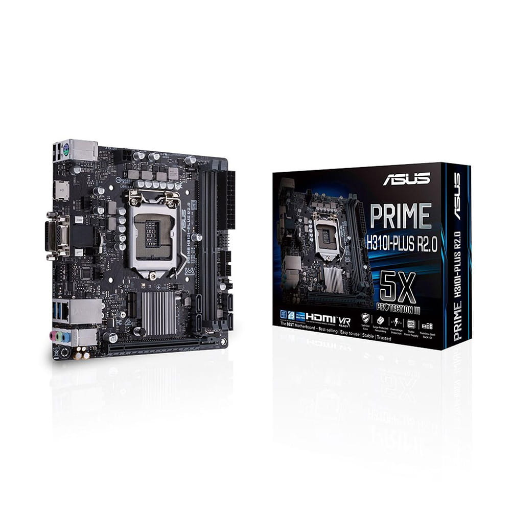 Asus Prime H310I-Plus R2.0 /CSM. Socket 1151. Mini-ITX.