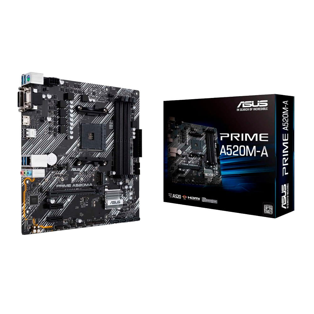 Asus Prime A520M-A. Socket AM4. Micro-ATX.