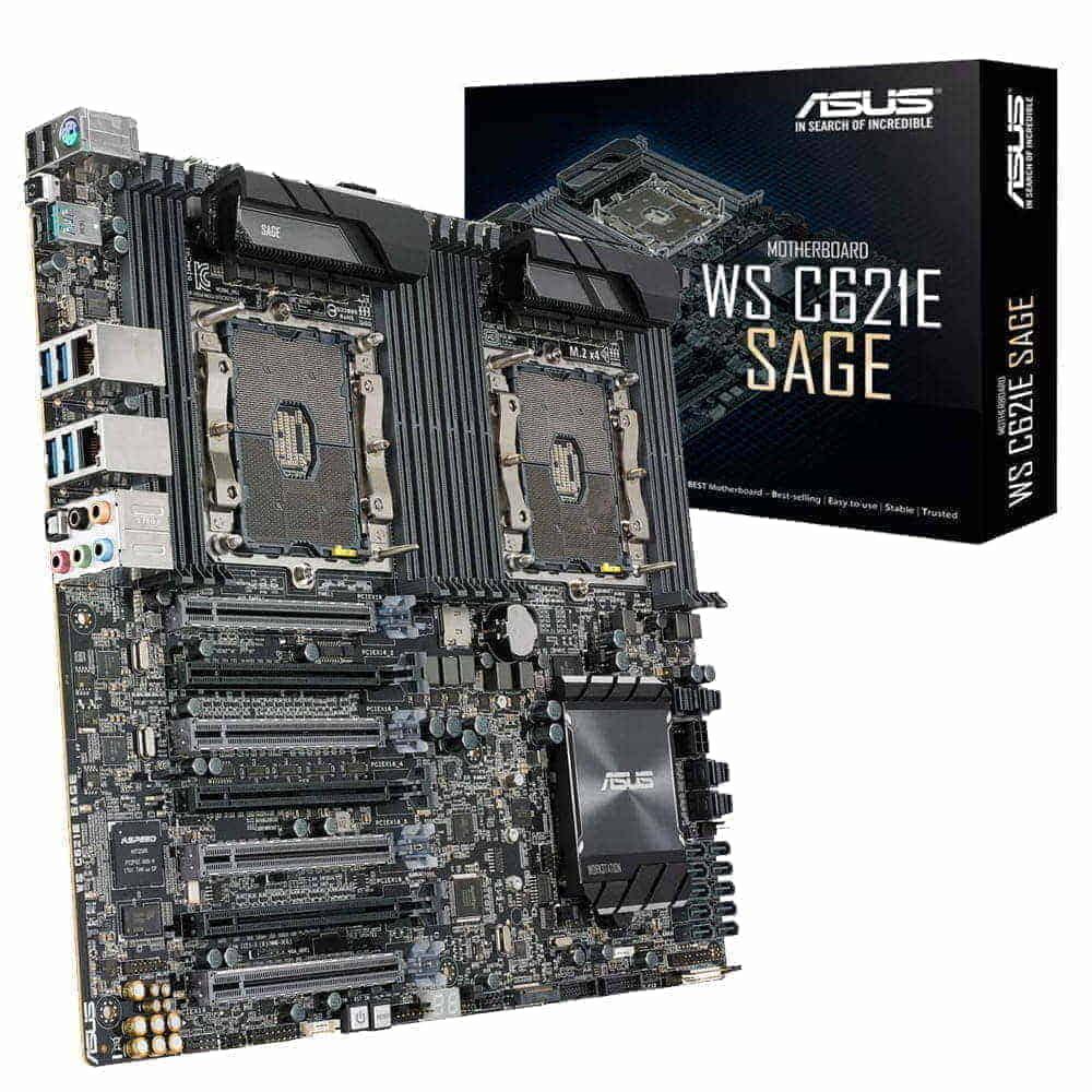 Asus WS C621E SAGE. 2x Socket 3647. EEB.