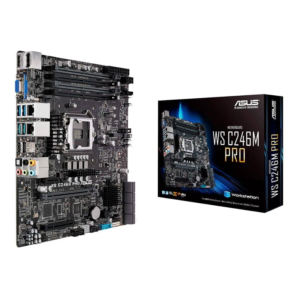 Asus WS C246M Pro/SE. Socket 1151. Micro-ATX.