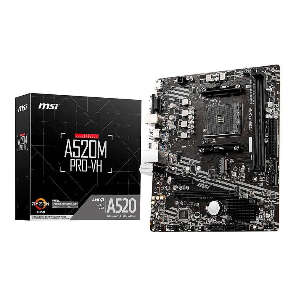 Msi A520M Pro-VH. Socket AM4. Micro-ATX.