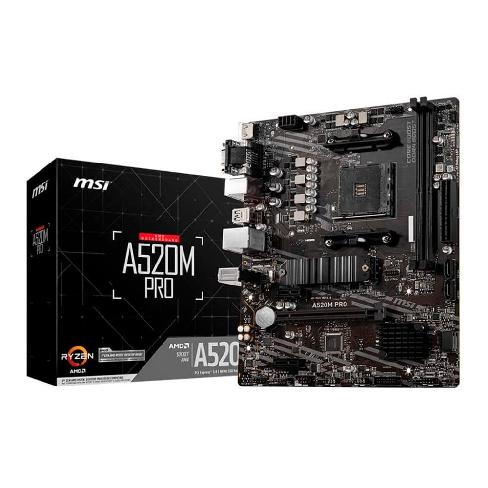 Msi A520M Pro. Socket AM4. Micro-ATX.