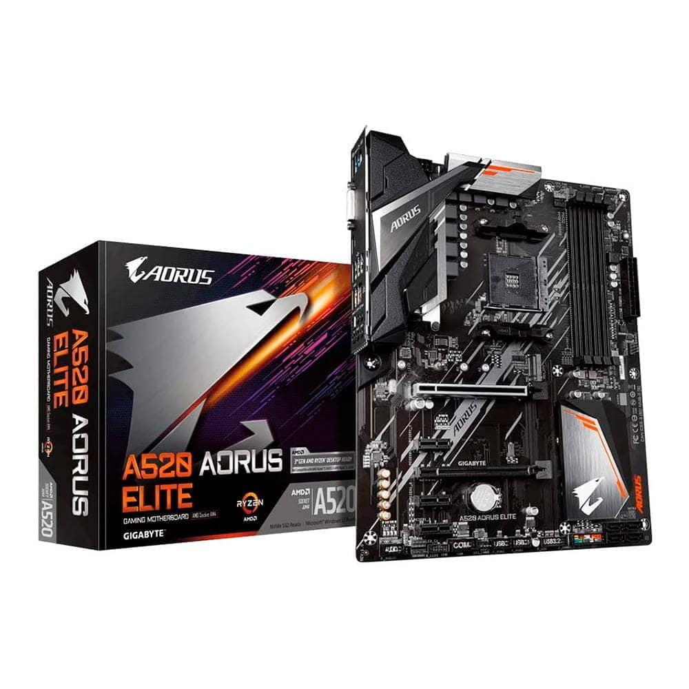 Gigabyte A520 Aorus Elite. Socket AM4.