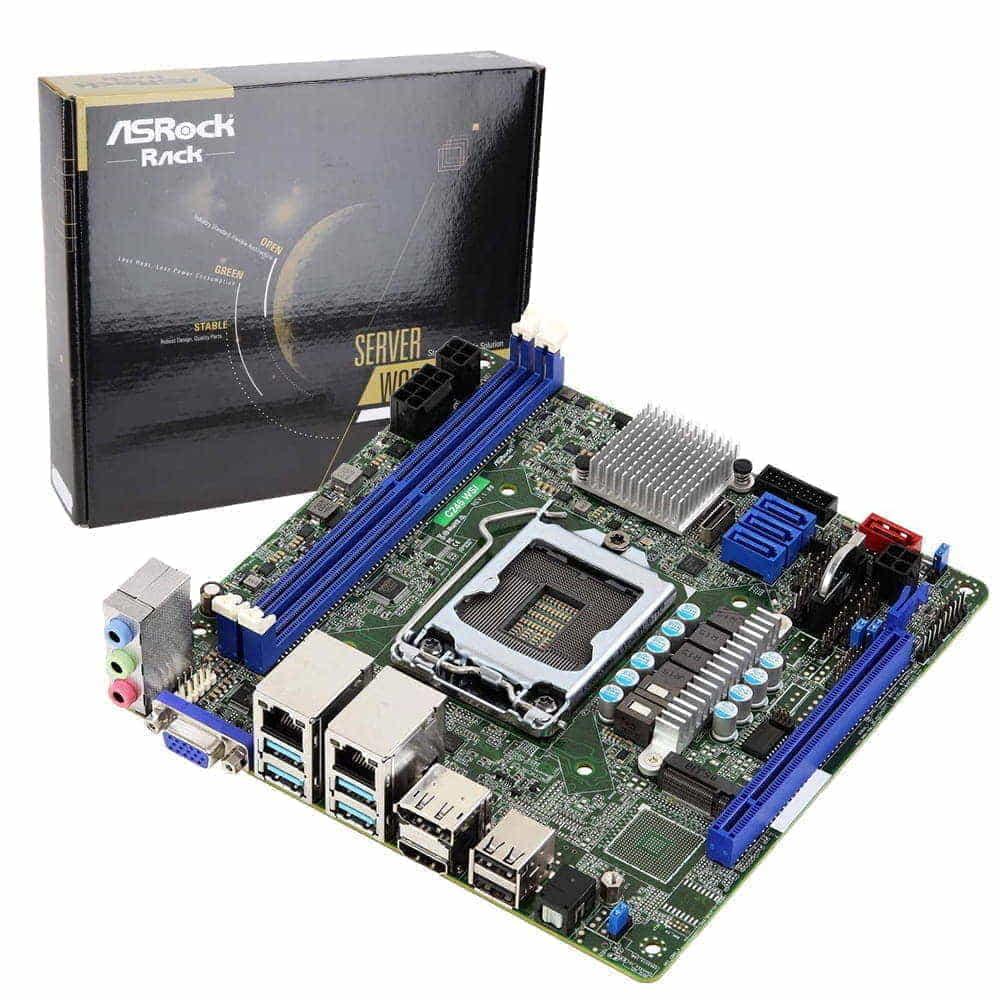 Asrock Rack C246 WSI. Socket 1151. Mini-ITX.