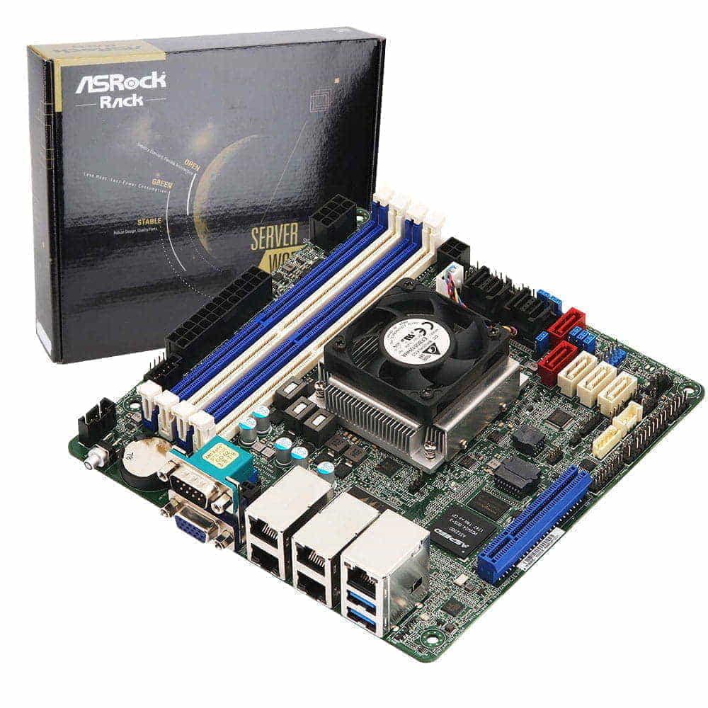 Asrock Rack C3758D4I-4L. Intel Atom C3758. Mini-ITX.