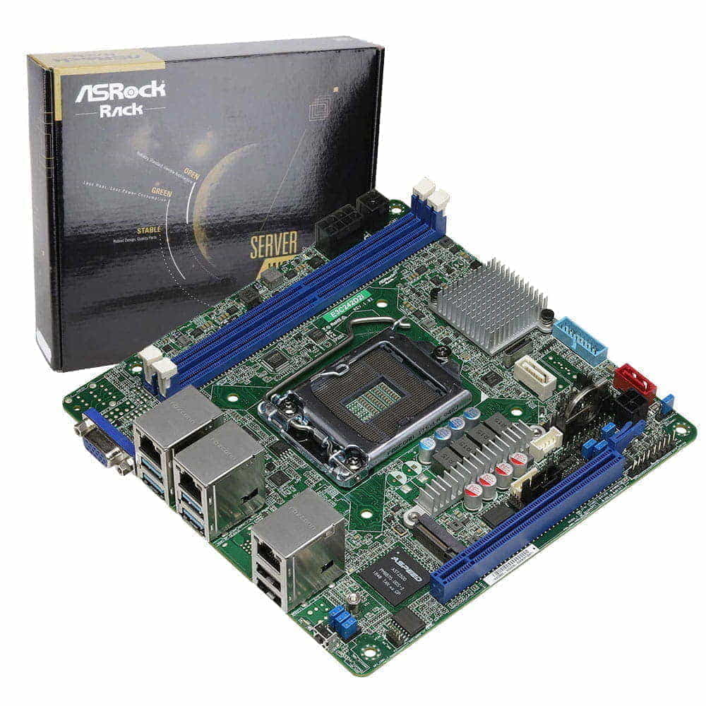 Asrock Rack E3C242D2I. Socket 1151. Mini-ITX.