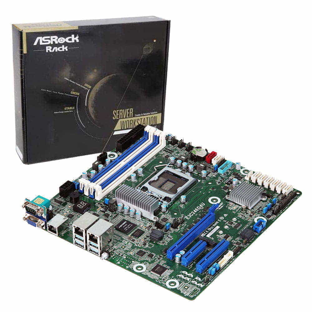 Asrock Rack E3C246D4U. Socket 1151. Micro-ATX.