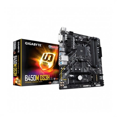 Gigabyte B450M DS3H. Socket AM4. Micro-ATX.