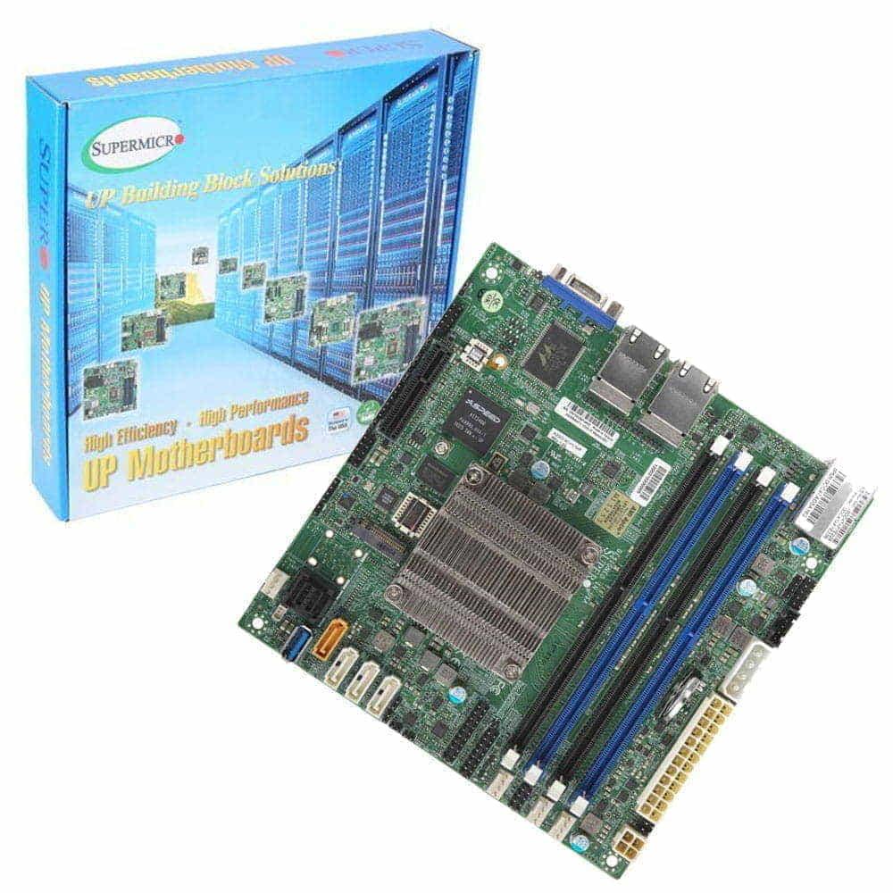 Supermicro A2SDI-4C-HLN4F-O. Intel Atom C3558. Mini-ITX.