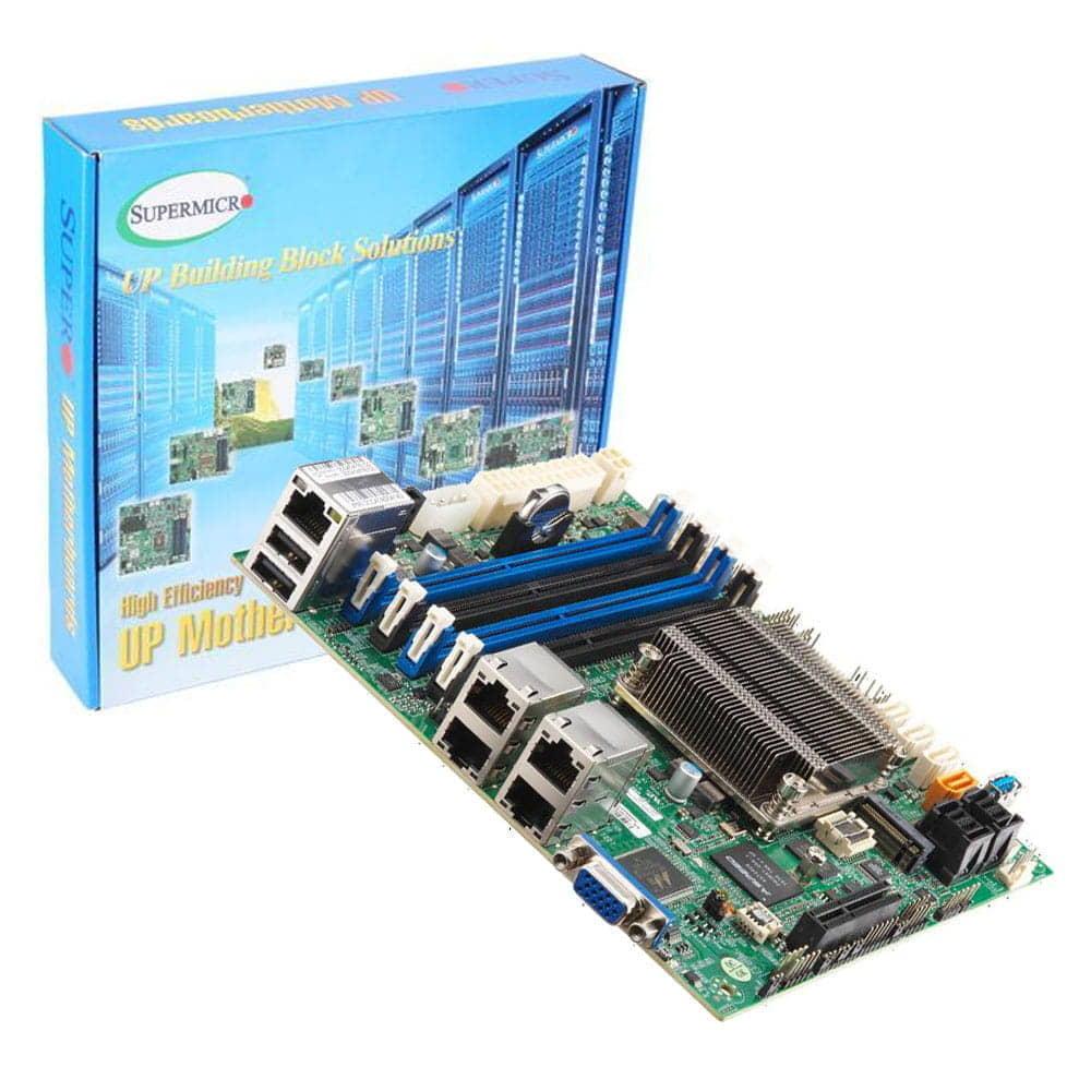 Supermicro A2SDI-8C-HLN4F. Intel Atom C3758. Mini-ITX.