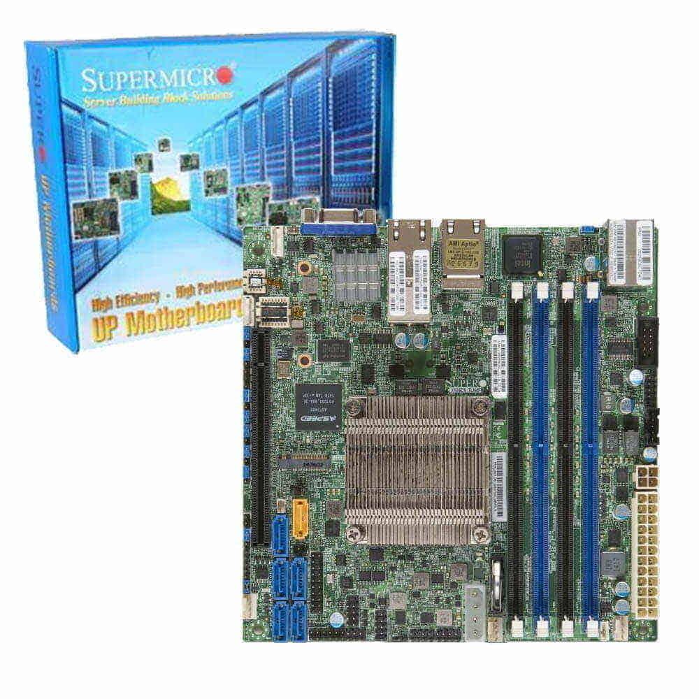 Supermicro X10SDV-12C-TLN4F. Intel Xeon D-1557. Mini-ITX.