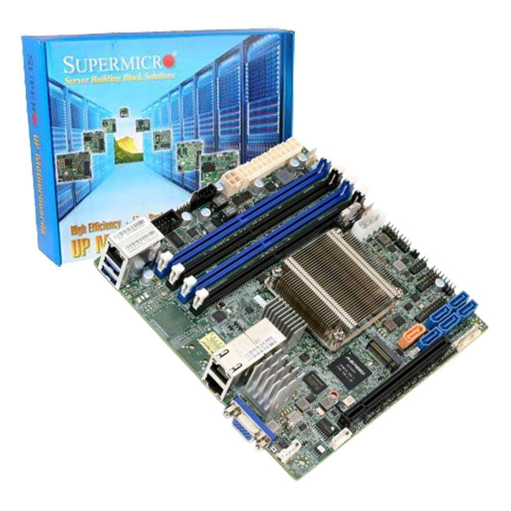 Supermicro X10SDV-2C-TLN2F. Intel Xeon D-1508. Mini-ITX.