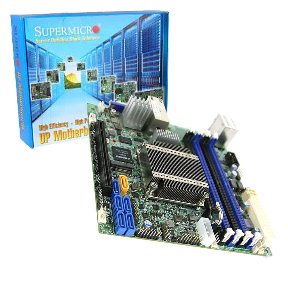 Supermicro X10SDV-4C-TLN4F. Intel Xeon D-1518. Mini-ITX.
