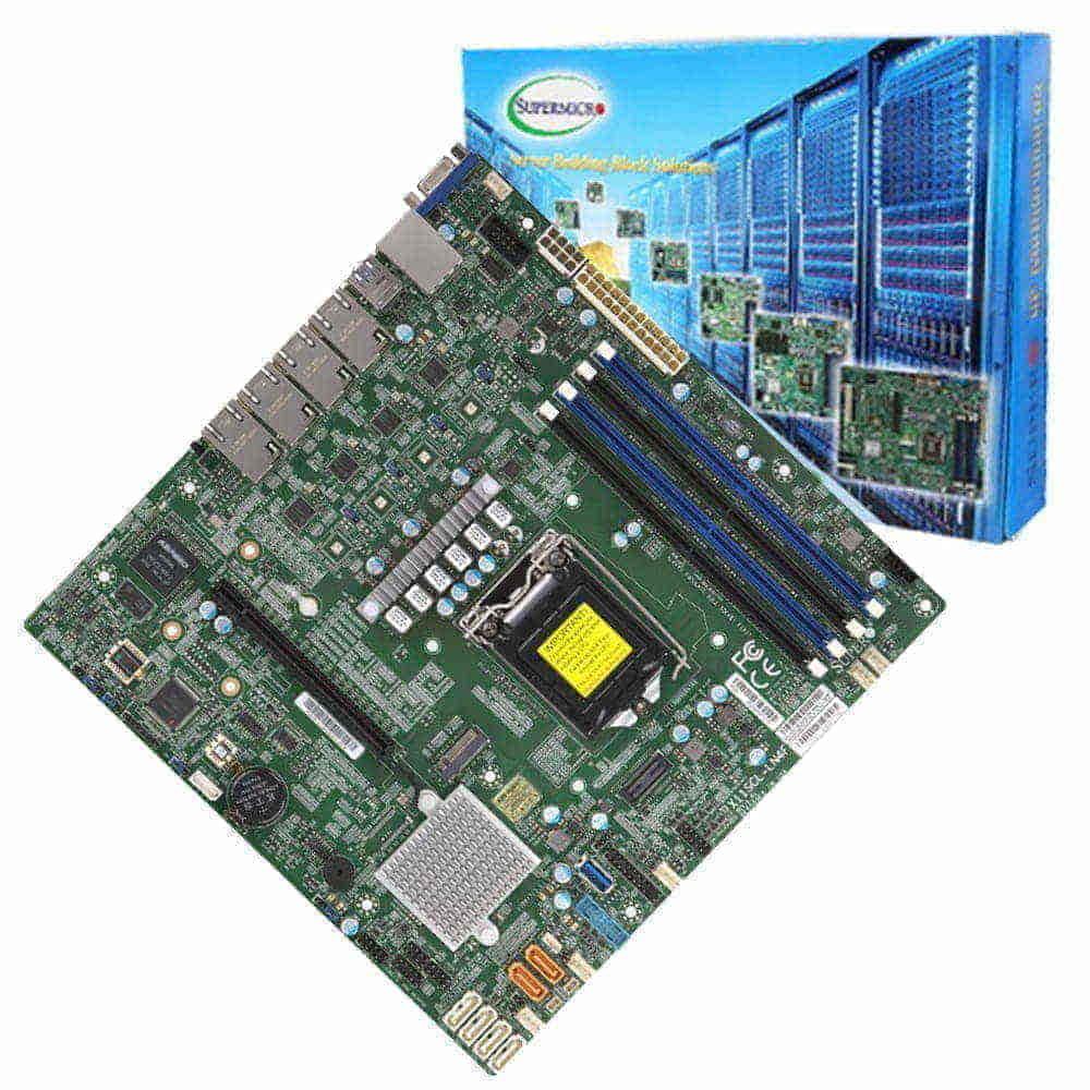 Supermicro X11SCL-LN4F. Socket 1151. Micro-ATX.
