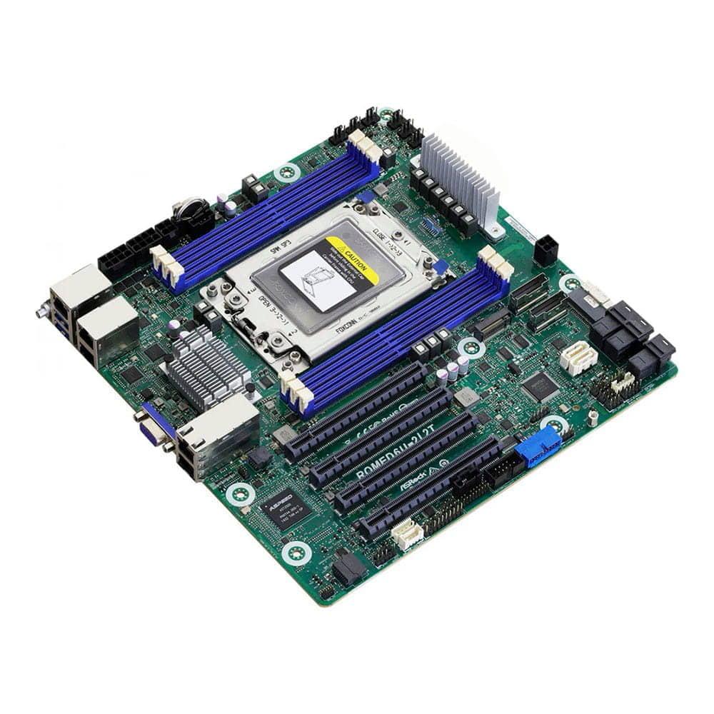 Asrock Rack ROMED6U-2L2T. Socket SP3. Micro-ATX.