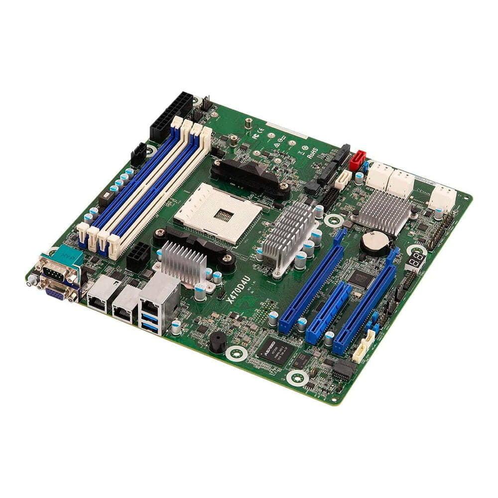 Asrock Rack X470D4U. Socket AM4. Micro-ATX.