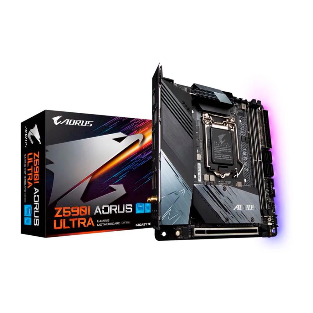 Gigabyte Aorus Ultra Z590I. Socket 1200. Mini-ITX.