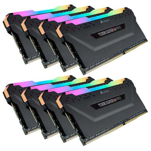 Corsair Vengeance RGB 128Gb (8x 16Gb) DDR4 3000Mhz 1.2V
