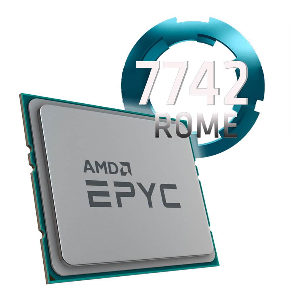Amd EPYC 7742 2.25Ghz. Socket SP3. TRAY