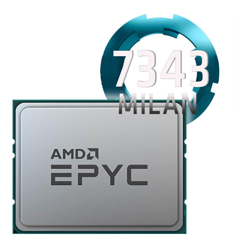 Amd EPYC 7343 3.2Ghz. Socket SP3. TRAY.
