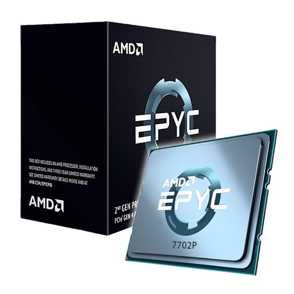 Amd EPYC 7702P 2.0Ghz. Socket SP3