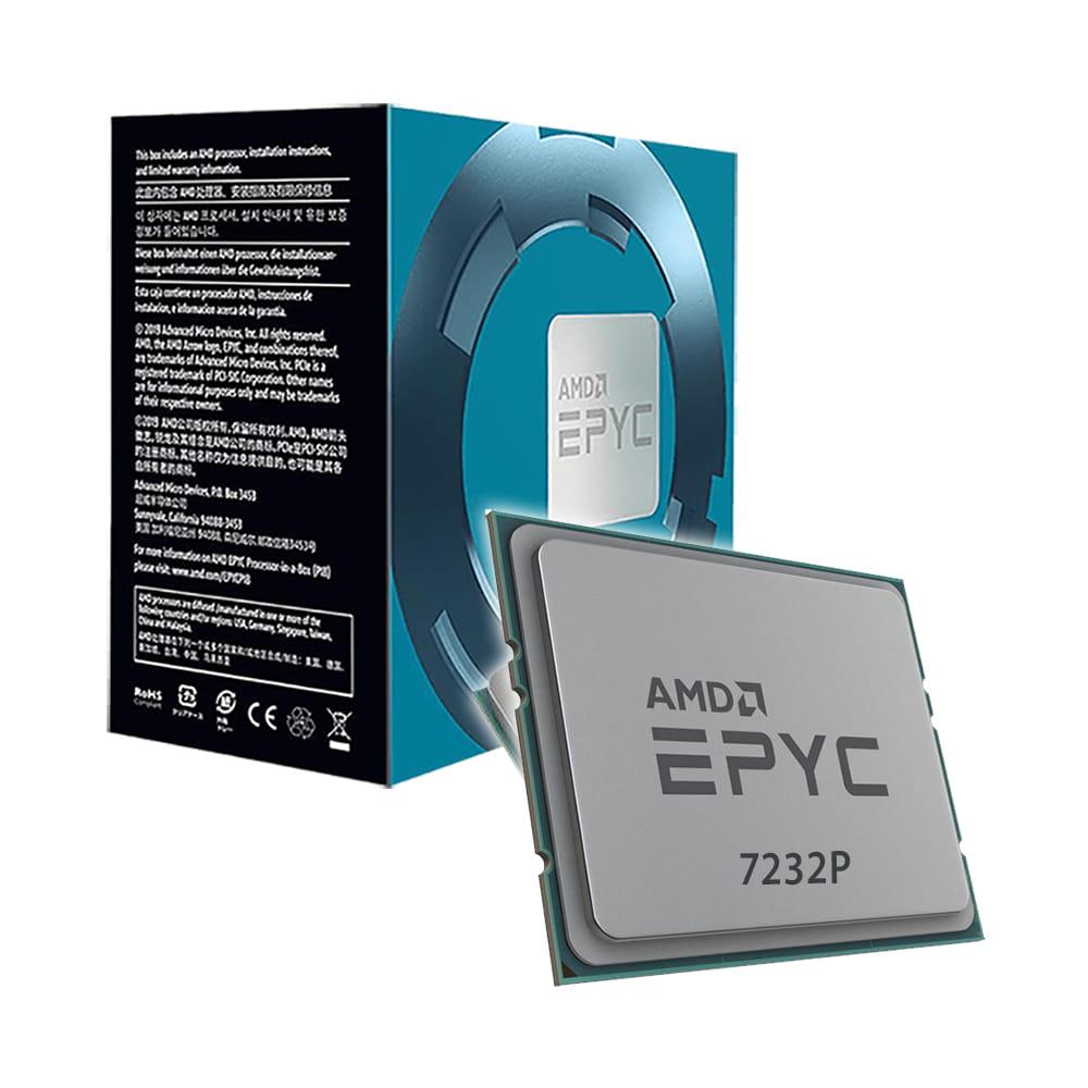 Amd EPYC 7232P 3.1Ghz. Socket SP3.