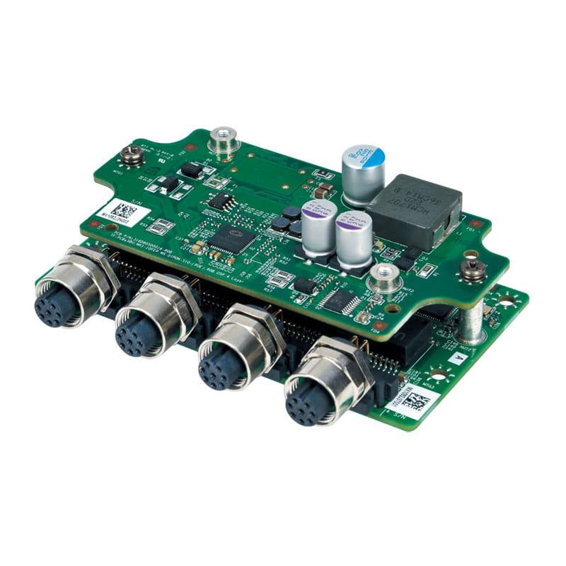 Expansion Module with 4 x PoE+, Intel i210-IT Giga LAN, M12 Port  para MITAC MX1-10FEB