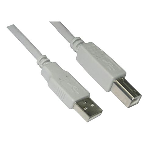 Cable USB 2.0 Tipo A/M-B/M. Beige. 4.5m