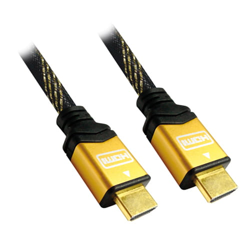 Cable HDMI V1.4 (Alta velocidad / HEC). A/M-A/M. ORO. 1.8m