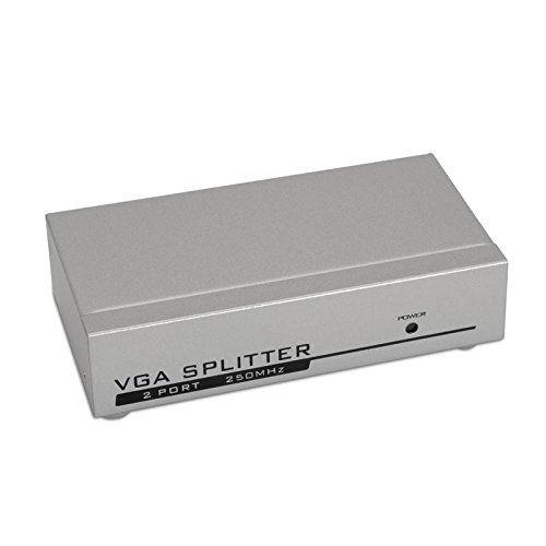 Duplicador VGA (Splitter) para 2 monitores con alimentación