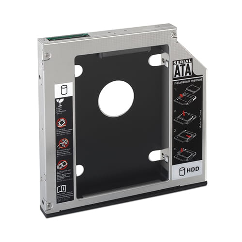Nanocable 10.99.0102. Adaptador HD 2.5 7mm/9.5mm a CD Slim 12.7mm