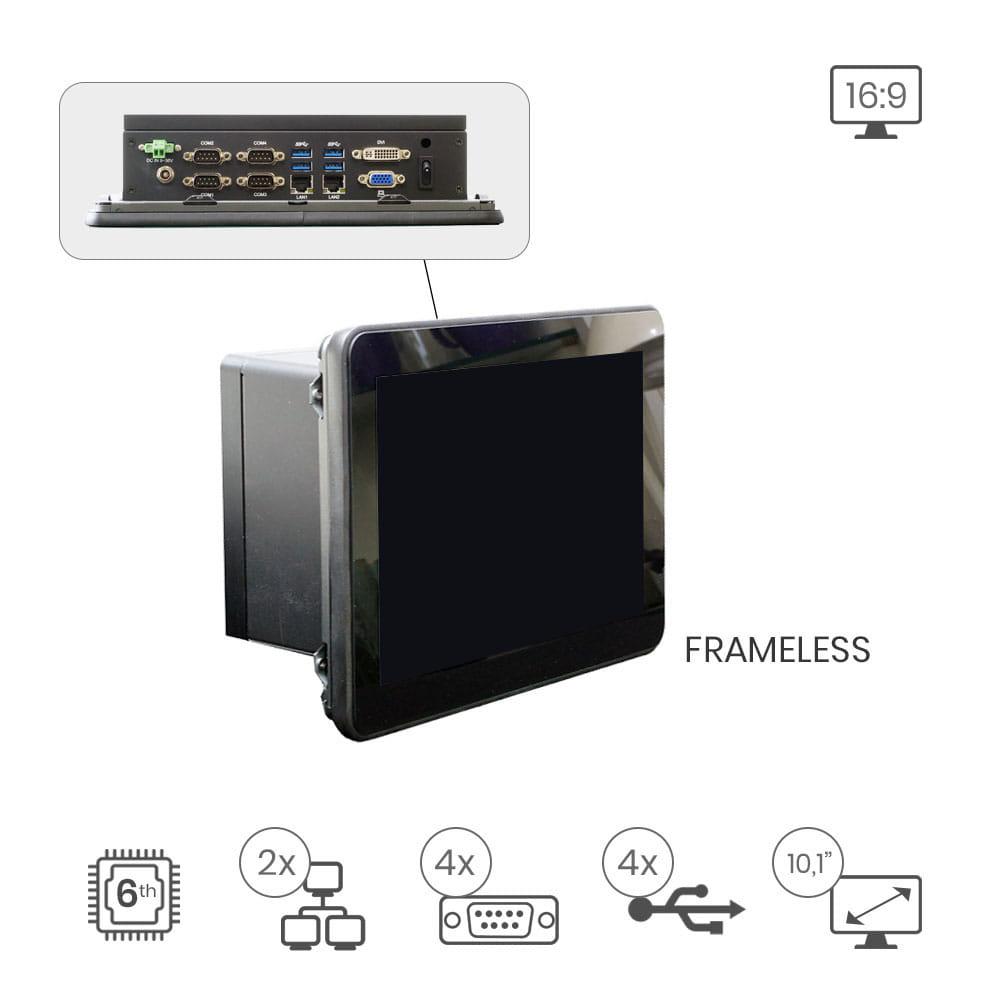 PanelPC Lex Vita Frameless 16:9 3I385CW-D90 - 10.1 pulg
