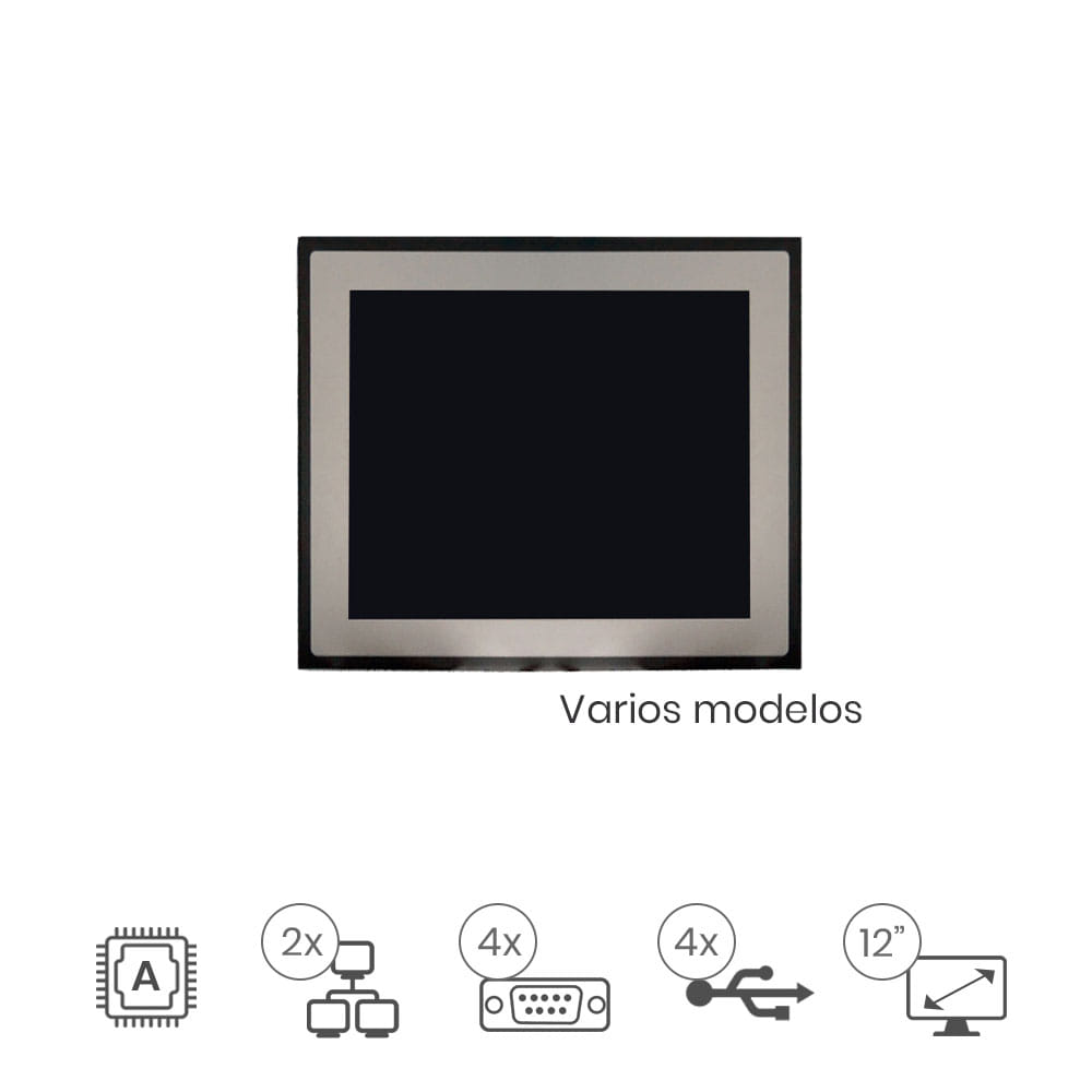 "Panel Pc Táctil 12"" IP67"