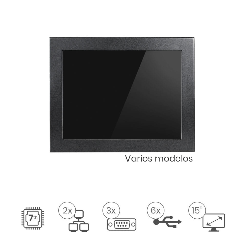"Panel Pc Táctil 15"" IP65"