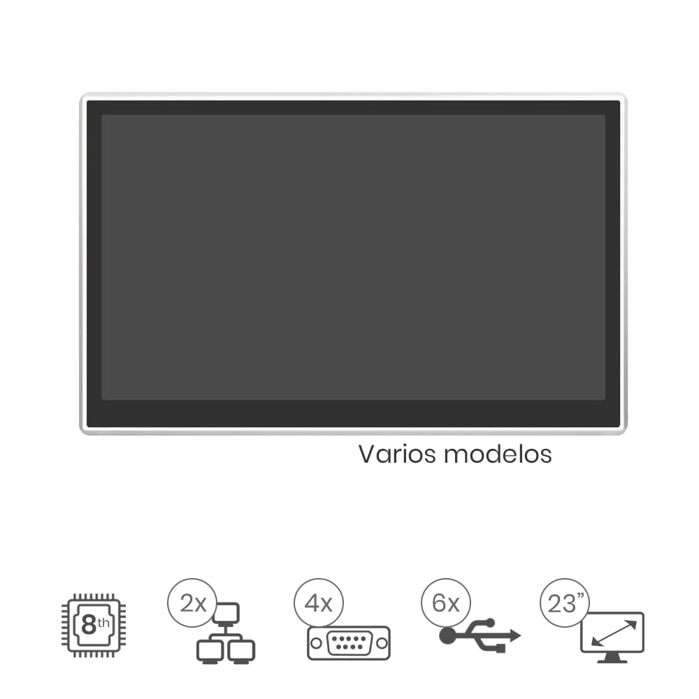 "Panel Pc Táctil 23"" IP65"