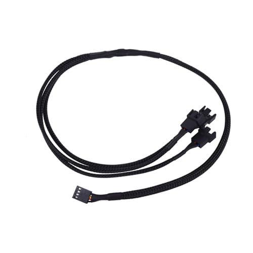 Phobya Y-cable 4Pin PWM to 3x 4Pin PWM 60cm - black