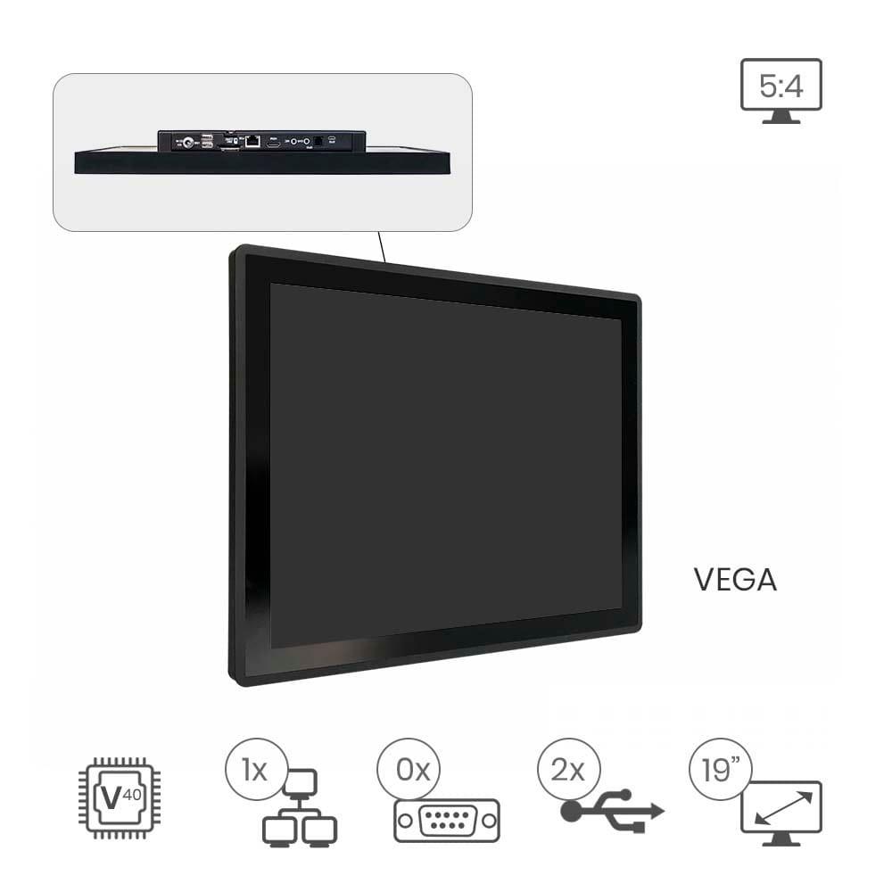 Faytech FT19V40CAPOB 48,3 cm (19 Zoll) Touch-Monitor schwarz