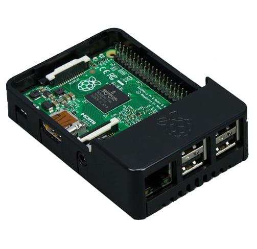 barebone Raspberry Pi 3 con 1Gb - 4 USB Negro con ventana