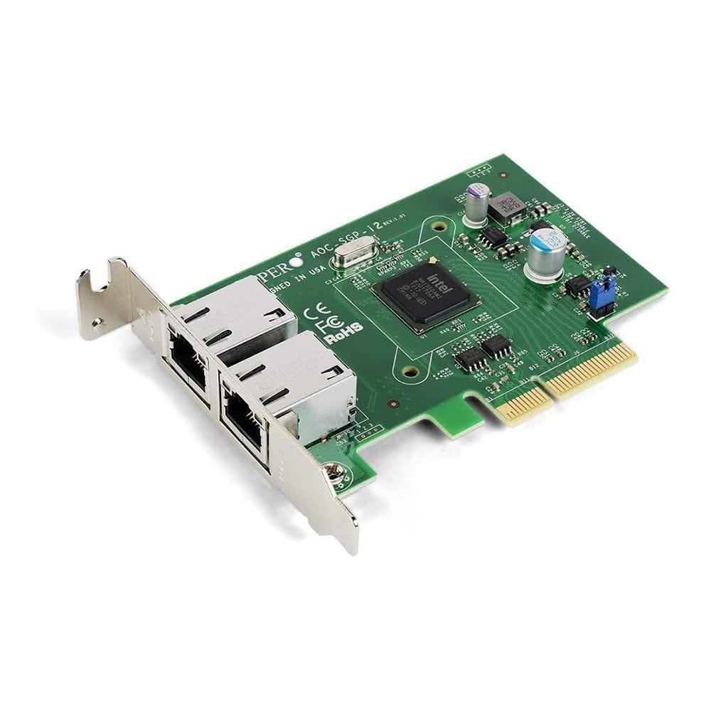 Supermicro AOC-SGP-I2. Tarjeta de red 2x RJ45 10/100/1000 PCIe