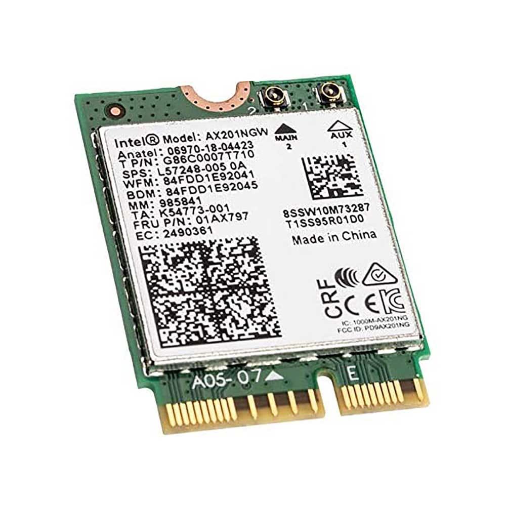 Intel WLAN 6 AX201 2400Mb/s M.2. BULK.