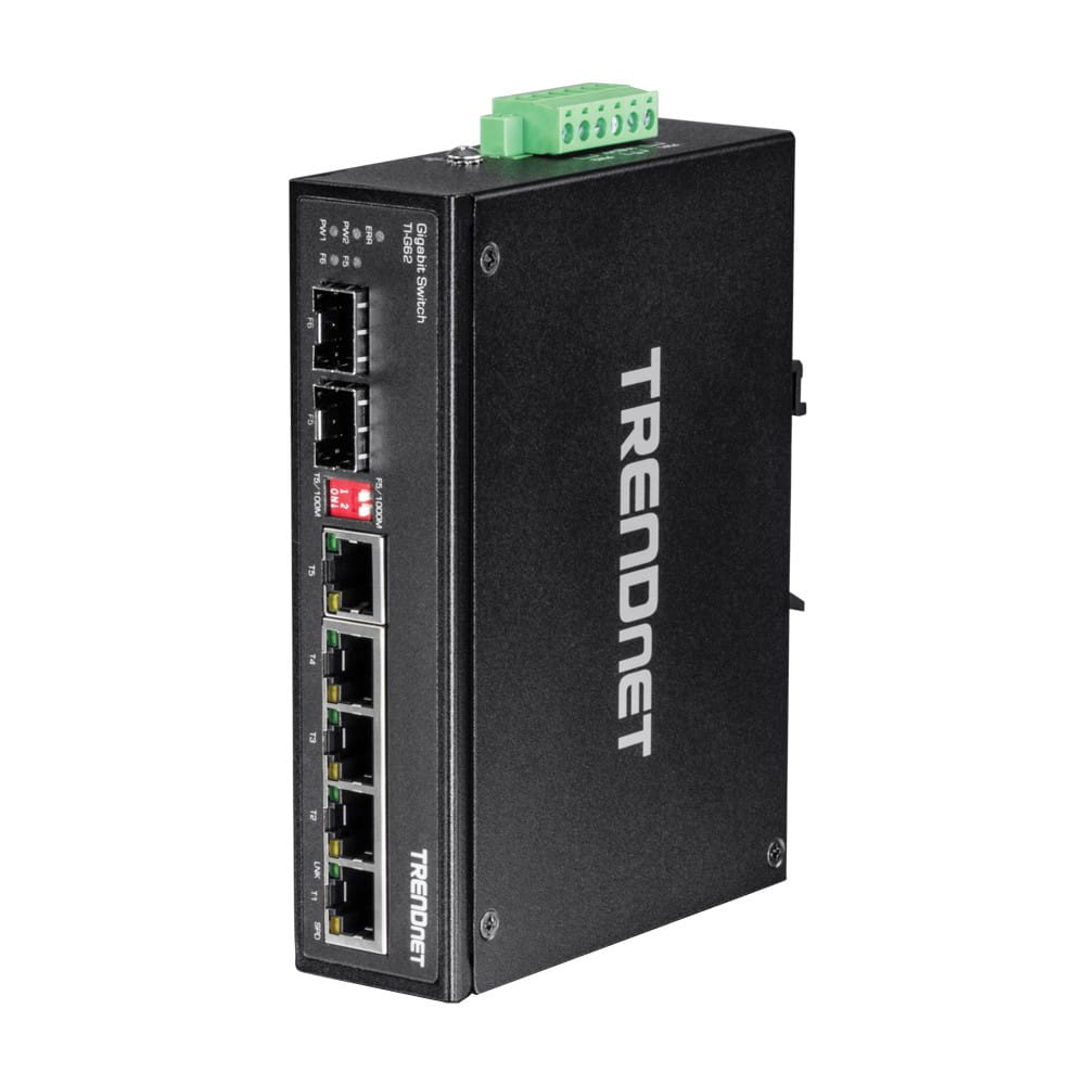 Trendnet TI-G62. Switch DIN-RAIL Gigabit 6 Puertos.