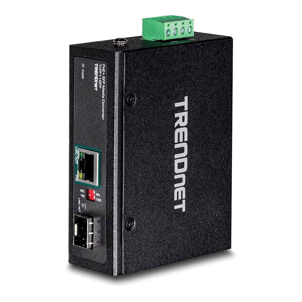Trendnet TI-PF11SFP. Convertidor SFP a Gigabit PoE+